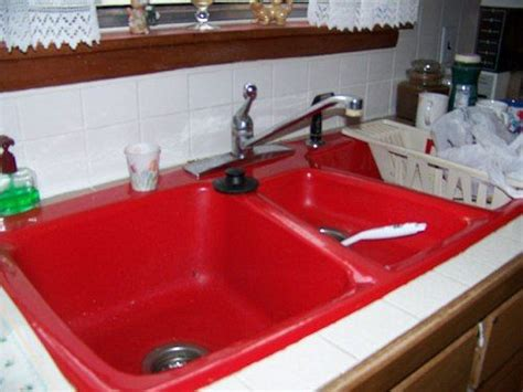 Kitchen Sinks, Red And Red Kitchen On Pinterest