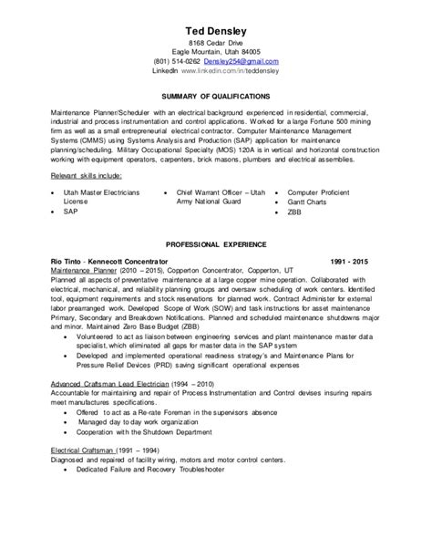 Ted Resume by Ted Densley Resume Master Rev