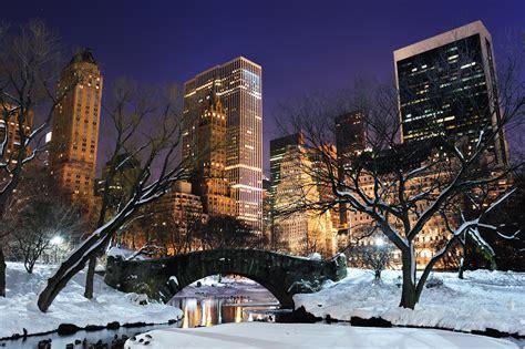york winter night desktop wallpaper hd wallpaper