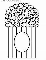 Popcorn Template Coloring Printable Pop Kernel Clipart Pages Bucket Open Cutout Templates Bible Bulletin Clip Cliparts Craft Church Board Idea sketch template