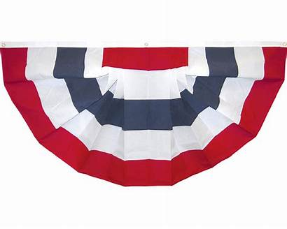 Patriotic Fan Pleated Banners Stars Bunting Flags