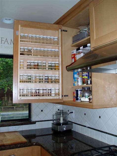 Cute Roll Out Spice Racks For Kitchen Cabinets