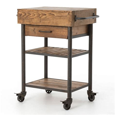 target kitchen island cart industrial reclaimed wood rolling kitchen island cart