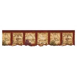kitchen border ideas shop norwall kitchen style wine label wallpaper border at lowes