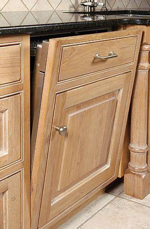 dishwasher panel integrated mission furniture shaker