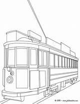 Tranvia Colorear Tram Coloriage Maternal Antiguo Dibujo Imprimer Train Coloring Dibujos Tramway Nouveau Printable Linea Imprimir Pintar sketch template