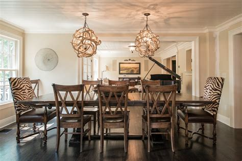 Dining Room Table Decorating Ideas - good looking extendable dining table in dining room farmhouse with brick stone combination next