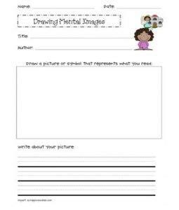 drawing mental images reading response sheets reading