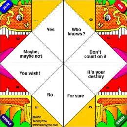paper fortune teller template how to make an origami fortune teller a kid s activity hubpages