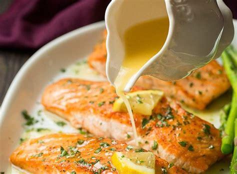 cuisiner saumon notre recette de saumon au beurre à l 39 ail et citron est