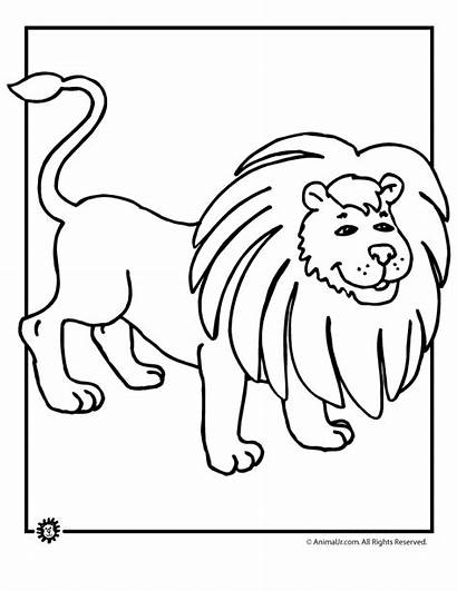 Coloring Lion Cartoon Pages Cliparts Animal Jr