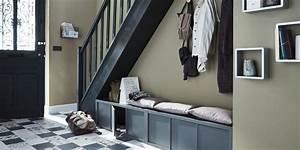 Meuble De Couloir Avec Banc : couloir optimiser l 39 espace marie claire ~ Teatrodelosmanantiales.com Idées de Décoration