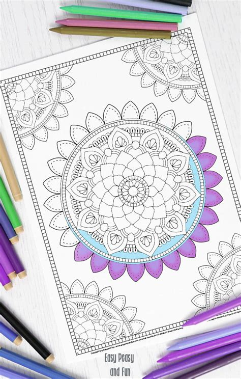 mandala adult coloring page favecraftscom