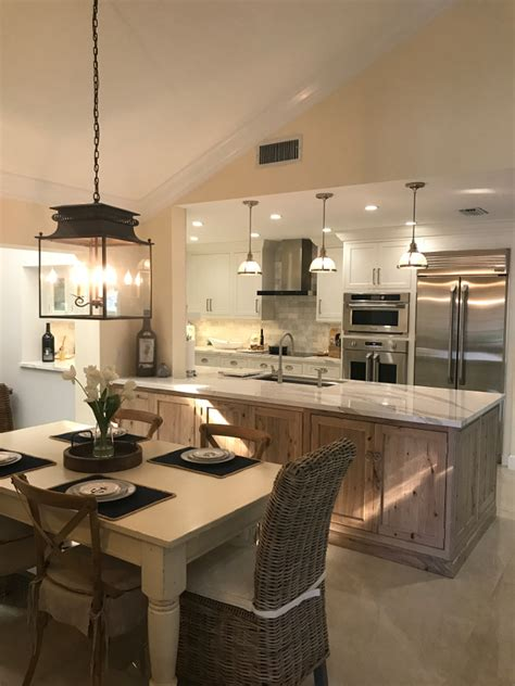 Kitchen Peninsula by White Kitchen With Driftwood Peninsula Home Bunch
