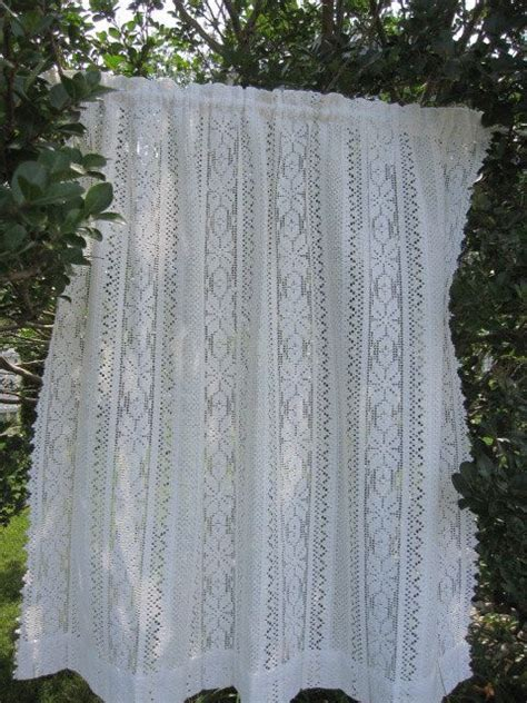 vintage lace curtain white lace cafe curtain