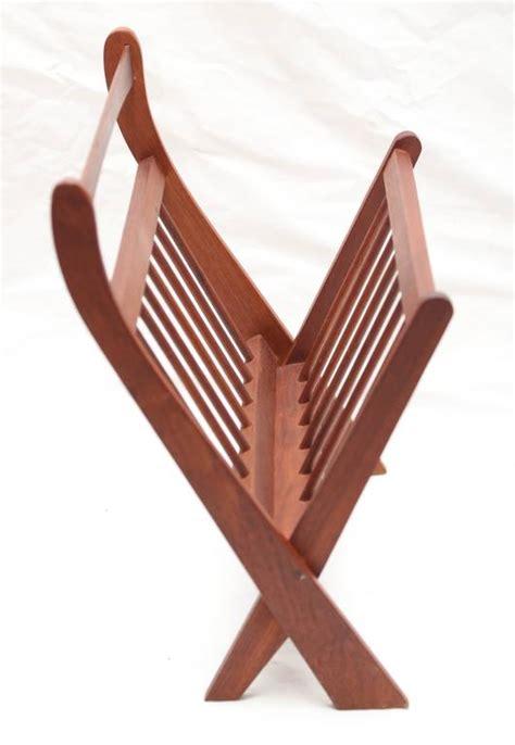 magazine rack with l danish teak mid century modern magazine rack at 1stdibs