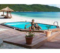 piscine en bois palmyra 613 x 405m piscine castorama With marvelous construction piscine hors sol en beton 8 piscine hors sol notre gamme de piscines hors sol