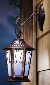 Us  24 97 Hanging Porch Light Solar Led Lighted Wall Mount Antique Lantern 17 U0026quot H