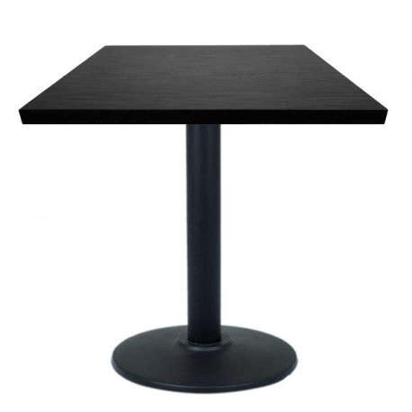 table 60x60 cuisine table restaurant 60x60 cm plateau bois et pied métal noir