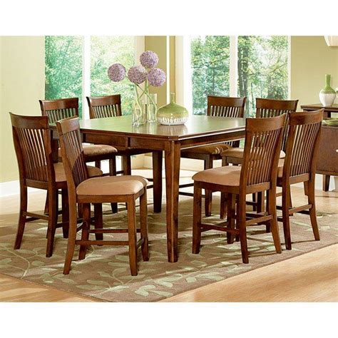montreal  piece counter set  wood table dcg stores