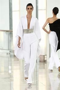 Pantalon De Soiree Chic : crepe pantalon blanc recherche google style haute couture robe et couture ~ Melissatoandfro.com Idées de Décoration