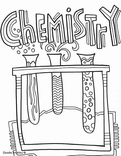 Chemistry Binder Coloring Pages Notebook Science Project