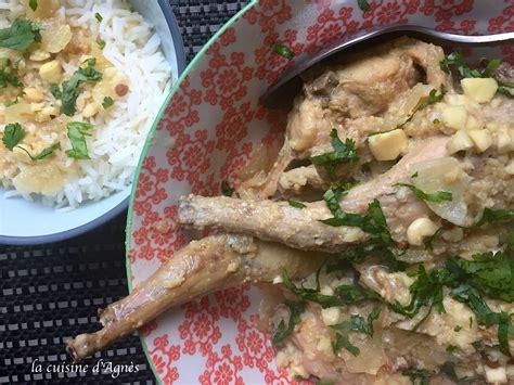 cuisine lapin curry de lapin aux amandes la cuisine d 39 agnèsla cuisine