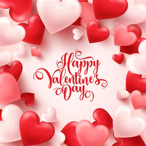 Almost files can be used for commercial. Heart shape valentine card with white background vector 03 free download