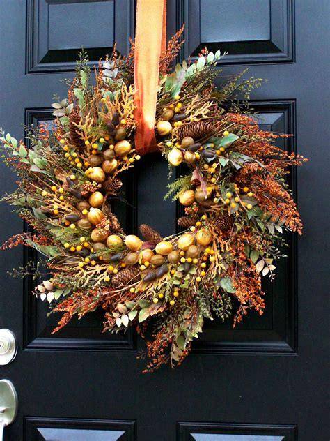 fall wreaths for front door for thanksgiving winter farm autumn wreath