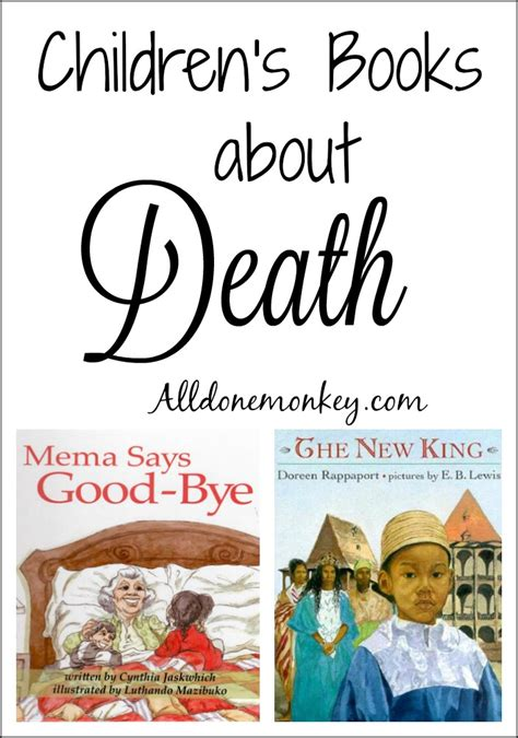 Children's Books About Death  All Done Monkey