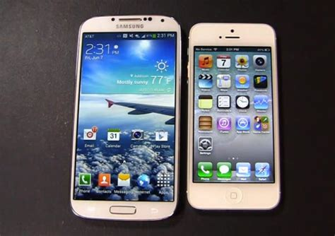 iphone s4 galaxy s4 vs iphone 5 in 21 minute dogfight