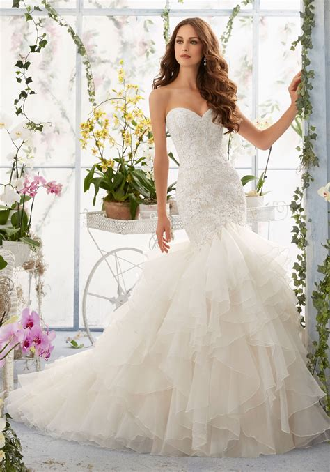 Venice Lace On Organza Mermaid Style Morilee Bridal