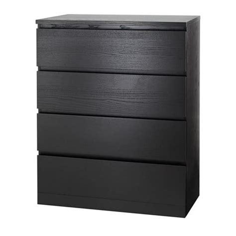 malm  drawer chest black brown ikea