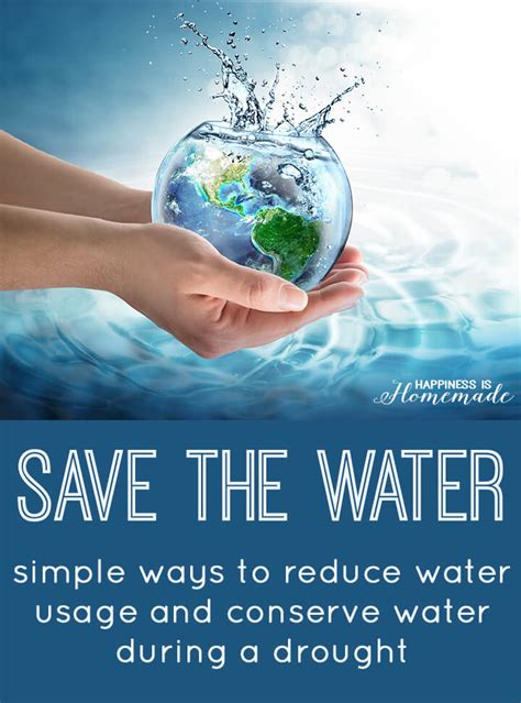 save the water ways to help conserve water happiness is