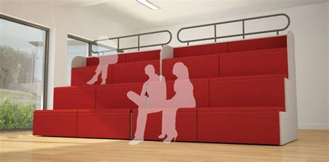 Modular Tiered Seating Mts   Genesys  Ee  Office Ee