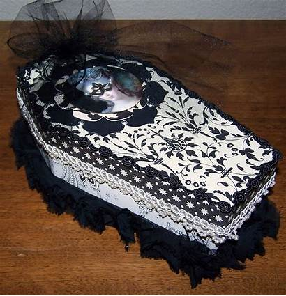 Gothic Coffin Altered Antoinette Marie Goodies Filled