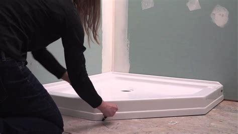 tile bathroom neo angle shower base installation