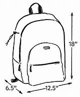 Backpack Drawing Clipartmag Draw Bookbag Duck sketch template