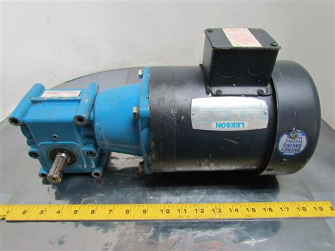 Electric Motor Reducer by Leeson Electric 3 4 Hp 3ph 56c Motor W Morse 15ged 10 1