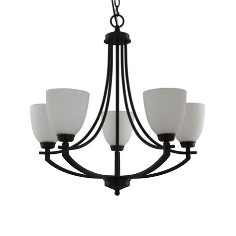 Glass Shades For Chandelier by Hton Bay 5 Light Bronze Chandelier With White Frosted