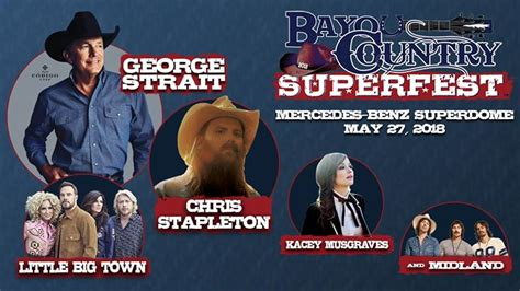 Bayou Country Superfest 2018 featuring George Strait, New ...