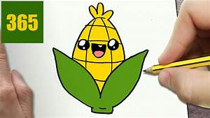 HOW TO DRAW A CORN CUTE, Easy step by step drawing lessons ...
