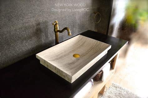 Modern Drop In Bathroom Sinks by 24 Quot Brown Marble Bathroom Vessel Drop In Sink New York