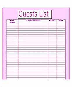 search results for wedding guest list template With wedding invitations guest list templates