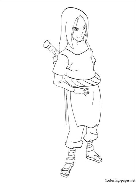 orochimaru naruto coloring page coloring pages
