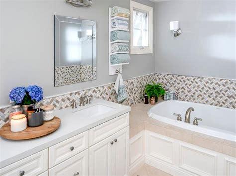 install  tile border   bathroom diy