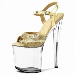 20 Cm High Heels : free shipping women 39 s shoes 8 inch transparent crystal ~ Lateststills.com Haus und Dekorationen