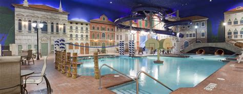venetian indoor waterpark waterslides pool maple