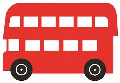 Bus London Clipart Clip Silhouette Decker Double