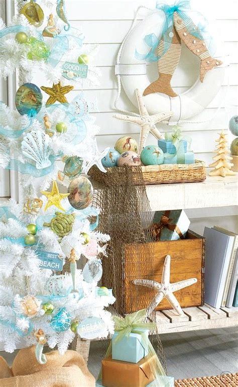 beach christmas decorations ideas inspired by sea sand